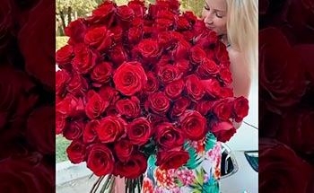 101 роза - высота 1 метр.